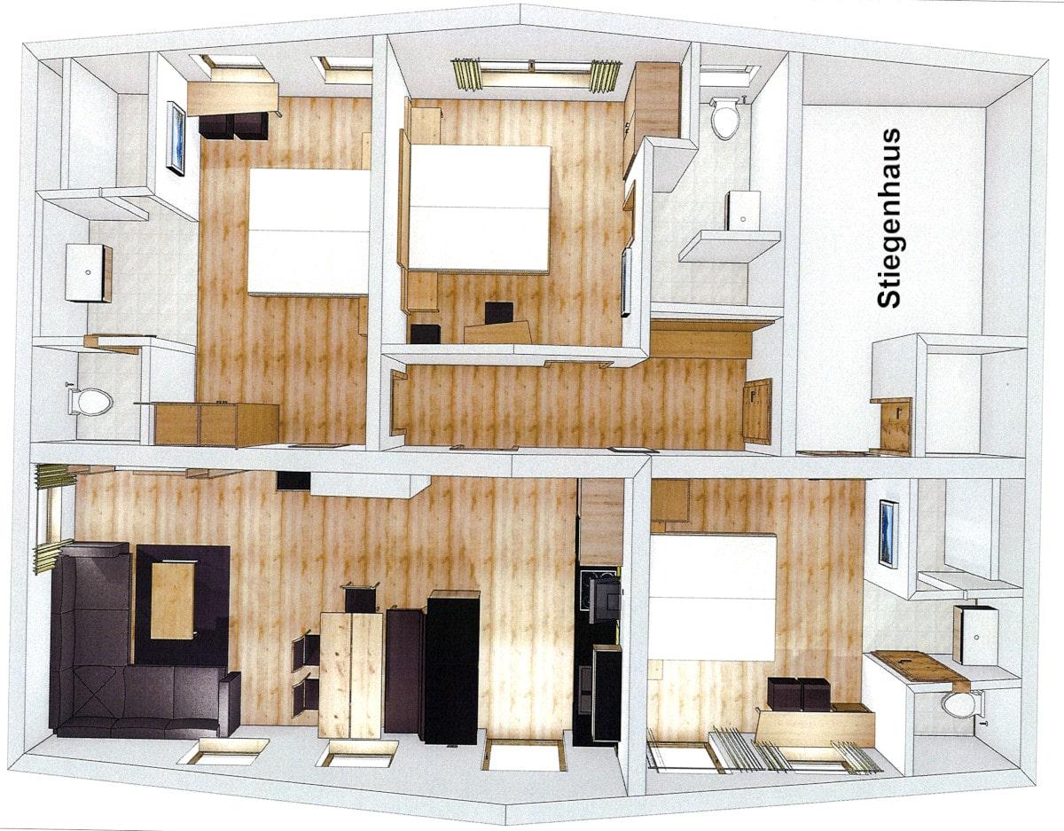 Panorama-Lodge-Ferienwohnungen-Appartements-Klausenstein-Gutshof-Hollersbach-Pinzgau
